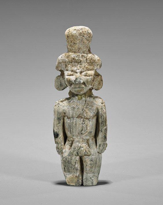 Carved Aztec-Style Hardstone Figure