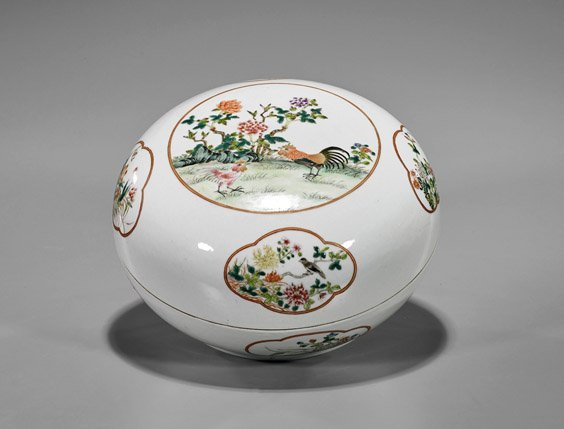 Chinese Enameled Porcelain Box