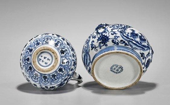 Two Ming-Style Porcelains: Basin & Ewer - 2