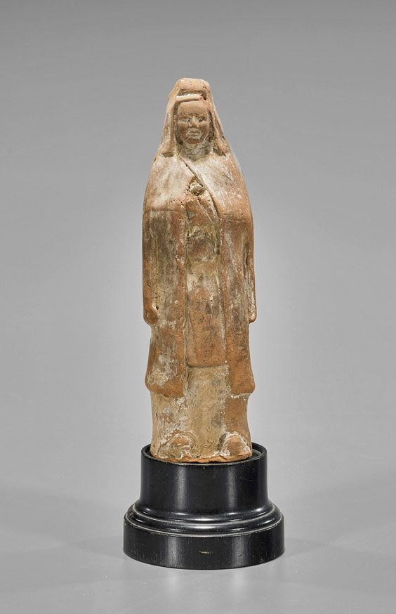 Sui Dynasty Standing Pottery Female Figure