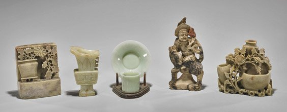 Six Items: Vases, Figurines, & Dishes