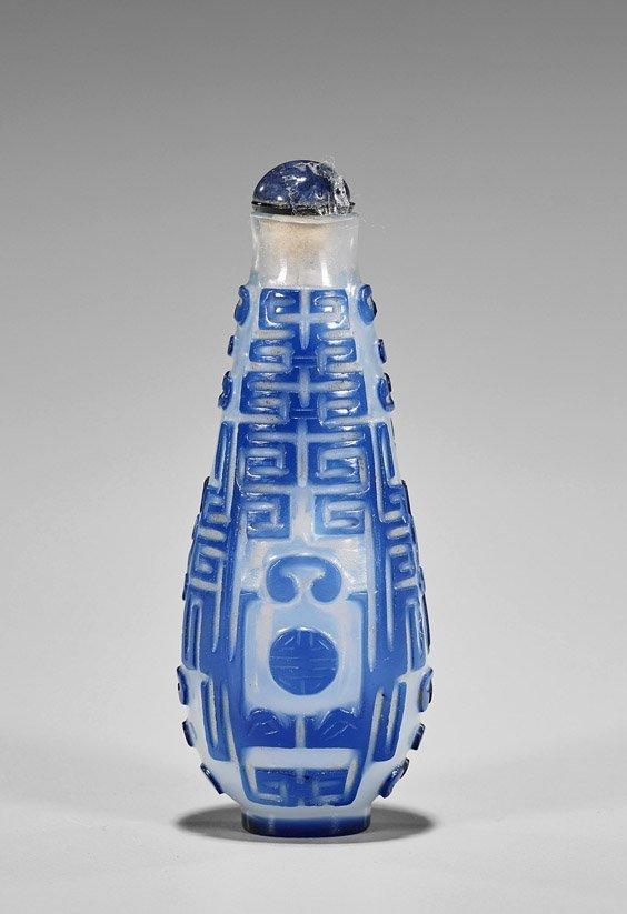 Three Snuff Bottles: Glass, Cloisonné & Porcelain