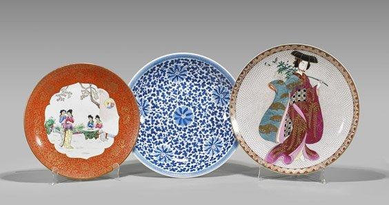 Three Chinese & Japanese Porcelain Dishes