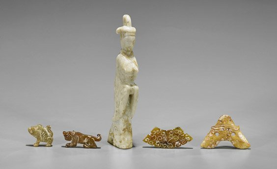 Eight Old & Archaistic Chinese Carvings
