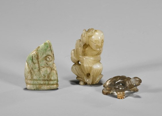 Eight Old & Archaistic Chinese Carvings - 2