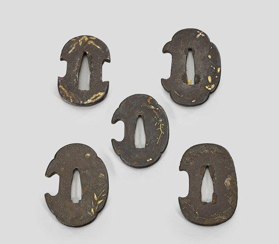 Five Small Antique Japanese Iron Tsuba