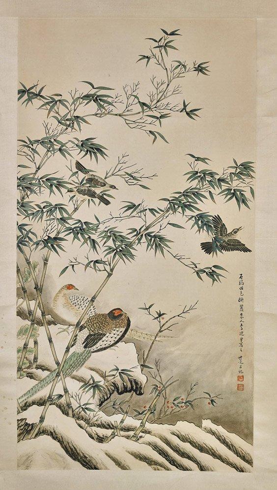 Three Chinese Paper Scrolls: Animals