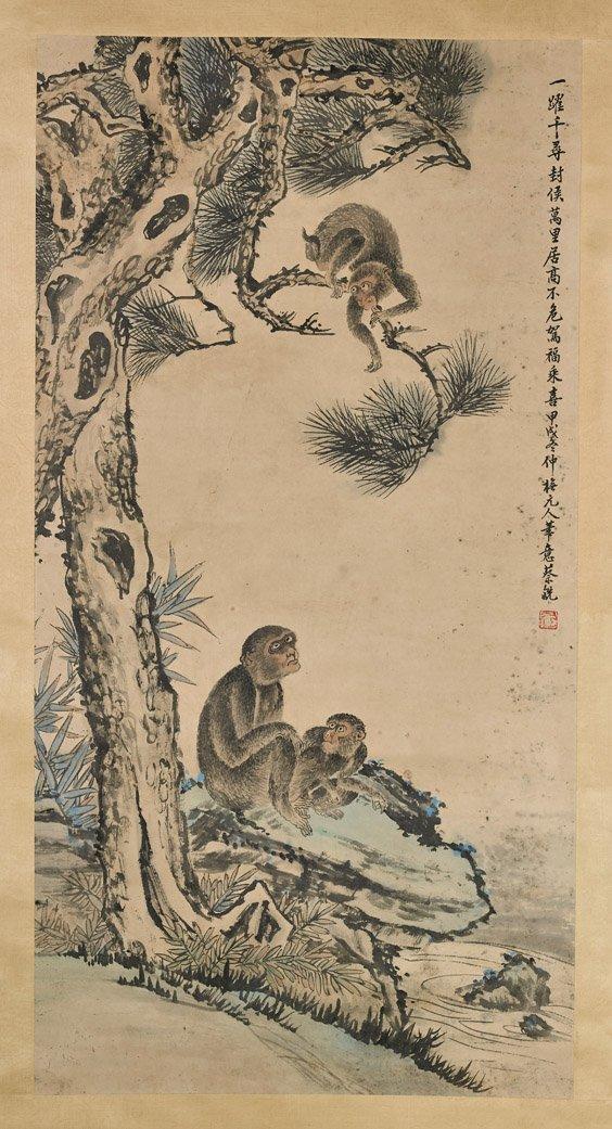 Three Chinese Paper Scrolls: Animals - 5