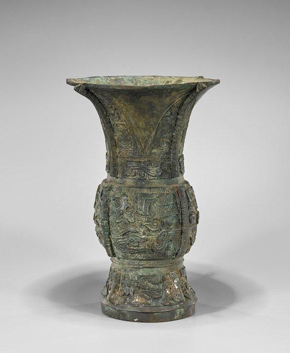 Western Zhou-Style Bronze Zun Vessel
