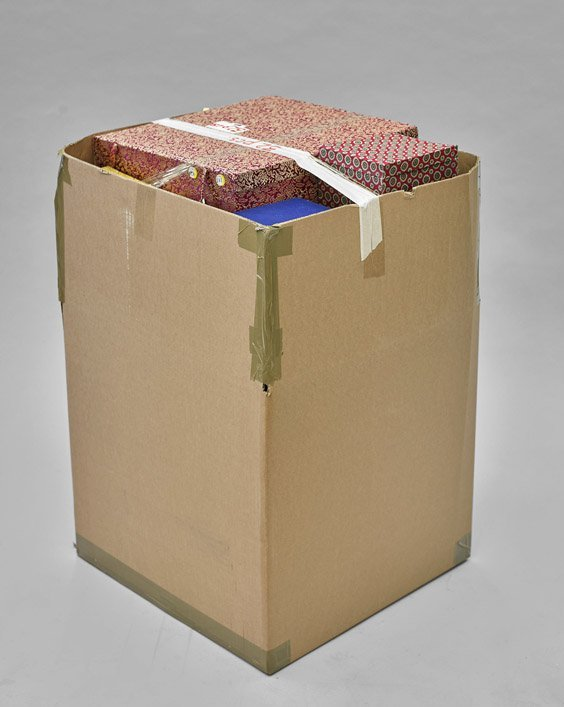 Thirty-Two Cloth Fitted Boxes
