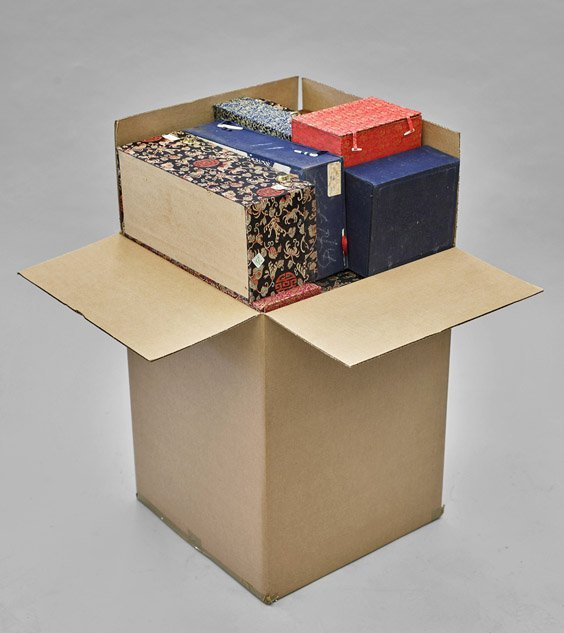 Sixteen Cloth Fitted Boxes