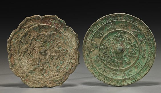 Two Old Song-Style Bronze Mirrors