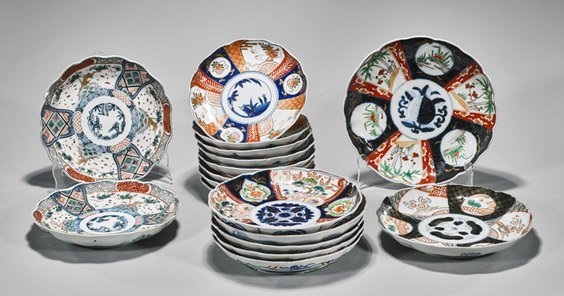 Seventeen Japanese Imari Plates