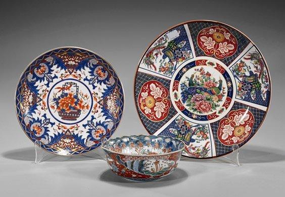 Three Japanese Porcelain Dishes