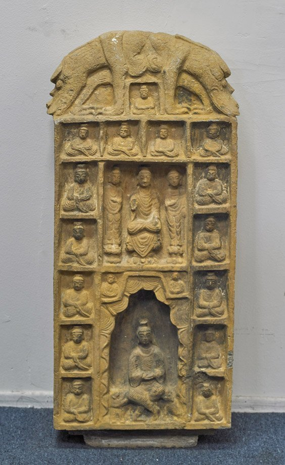 Large Chinese Carved Stone Stele