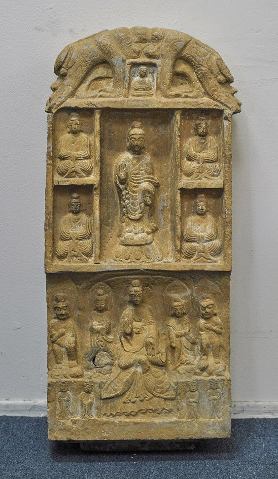 Large Chinese Carved Stone Stele - 2
