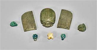 Group of Six Egyptian Amulets