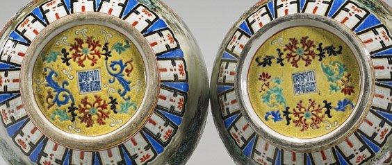 Pair Qianlong-Style Famille Rose Jars - 3