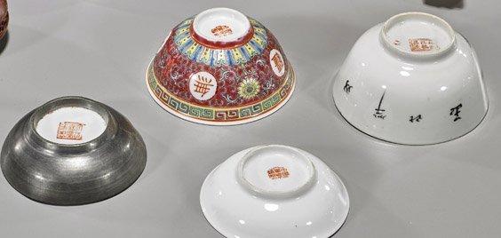 Seven Items: Wood, Porcelain & Soapstone - 2