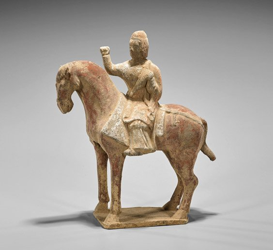 Tang Dynasty Painted Pottery Horse & Rider