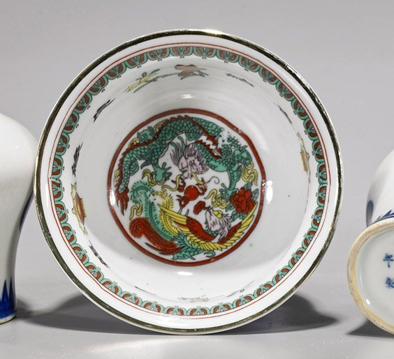 Four Chinese Qing-Style Porcelains - 3