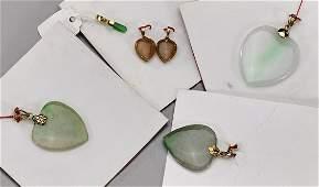 Six Chinese Jade/Jadeite Pendants
