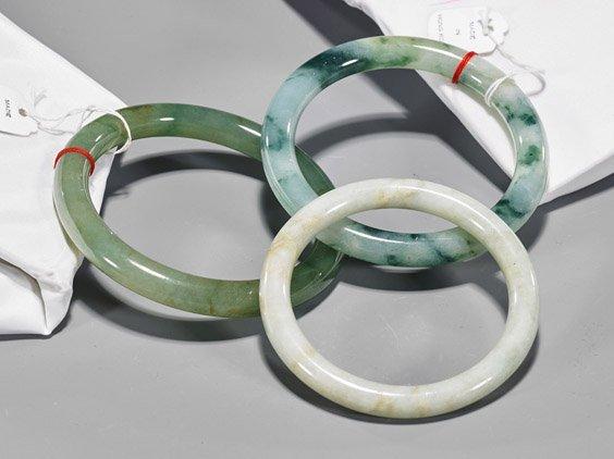 Three Chinese Jade Bangles