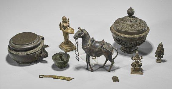 Nine Old & Antique Asian Bronzes