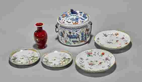 Six Old & Antique Porcelains: Chinese & Japanese