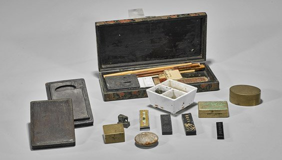 Group Old & Antique Chinese Writing Instruments