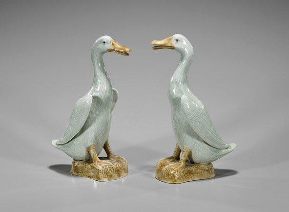 Pair Chinese Ceramic Ducks