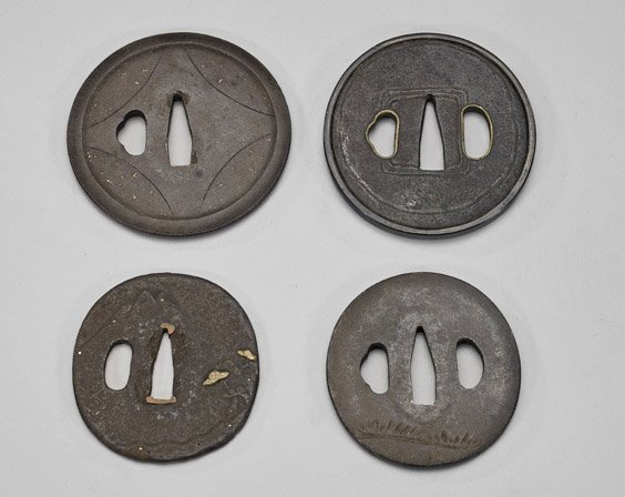 Four Antique Japanese Tsuba - 2