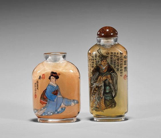 Two Inside Painted Glass Snuff Bottles - 2