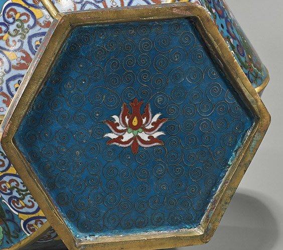 Large Ming-Style Cloisonne Enamel Vase - 2