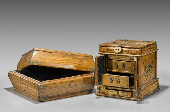 Two Carved Wood Boxes - 2