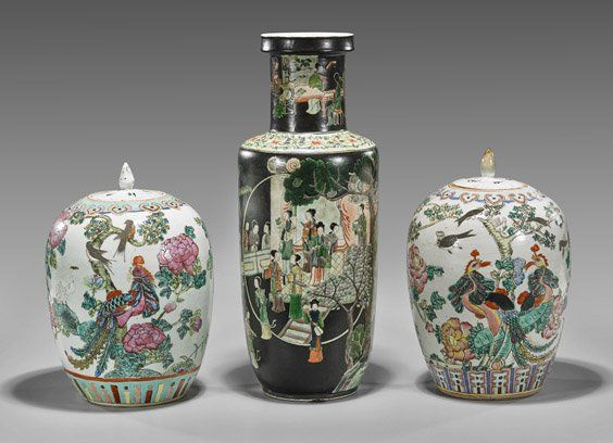 Three Old & Antique Chinese Porcelain Vases