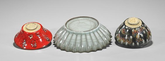 Three Song-Style Glazed Bowls - 2