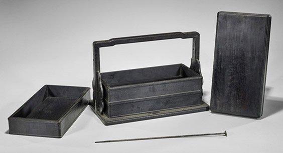 Chinese Wood Three-Tiered Stacking Box
