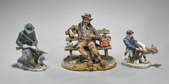 Three Continental Porcelain Figurines
