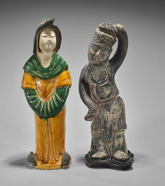 Two Early-Style Chinese Pottery Figures