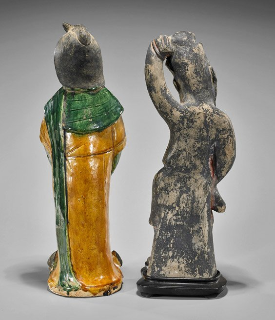 Two Early-Style Chinese Pottery Figures - 2