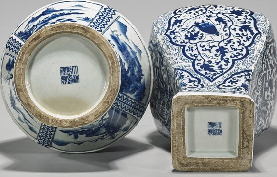 Two Qianlong-Style Blue & White Vases - 3