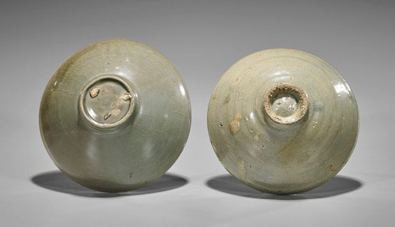 Two Koryo Dynasty Celadon Glazed Bowls - 2
