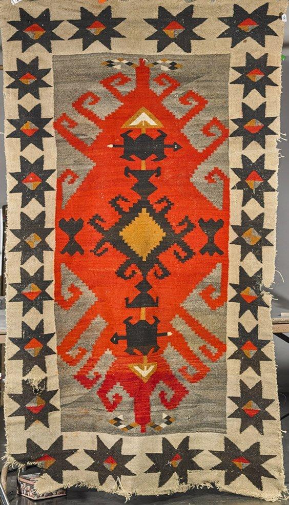Old Native American Navajo Wool Rug
