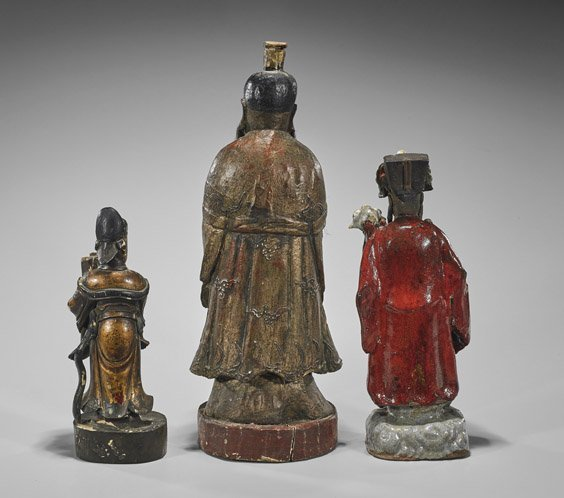 Three Chinee Figures: Shekwan & Wood - 2