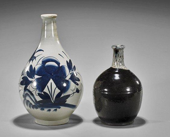 Two Antique Japanese Ceramic Vases