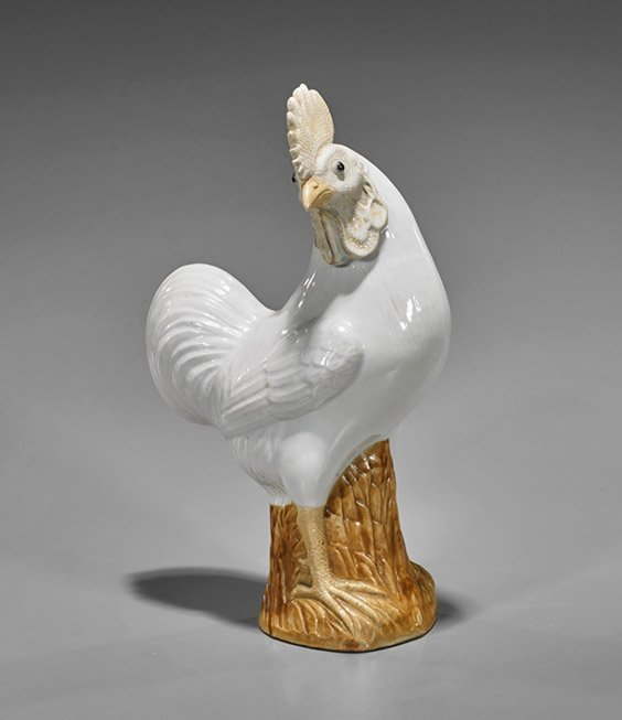 Old Chinese Enameled Porcelain Rooster
