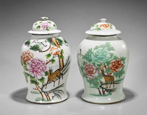 Three Chinese Items: Dancer & Jars - 3