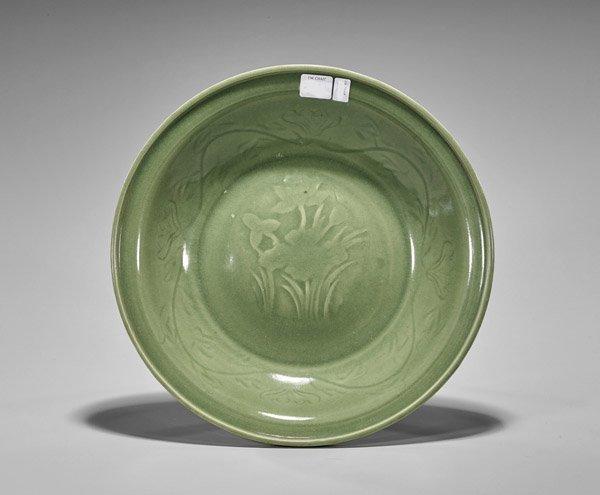 Ming-Style Celadon Glazed Shallow Dish