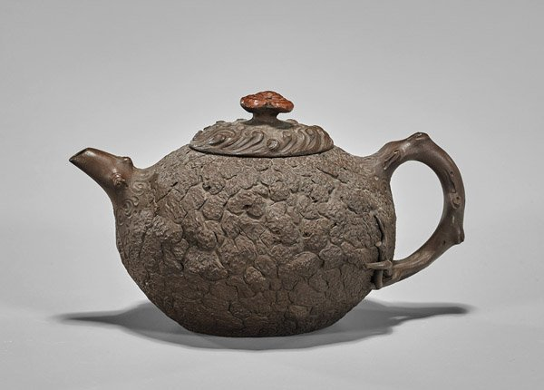 Chinese Yixing Pottery Textured Teapot